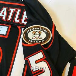 Dany Heatley Signé Authentique Reebok Anaheim Ducks Hockey Jersey Avec Jsa Coa