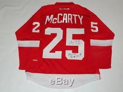 Darren Mccarty Jsa Coa, Maillot De La Coupe Stanley 1997, Signé Par Rbk Detroit Red Wings