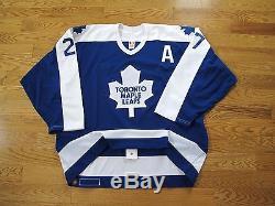 Darryl Sittler A Signé Le Maillot Des Maple Leafs De Toronto, Sangle De Combat CCM Air, Tricot, Sz 58