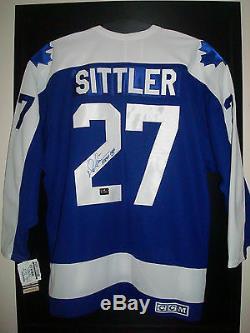 Darryl Sittler Chandail CCM Vintage Style Signé Par Les Maple Leafs De Toronto