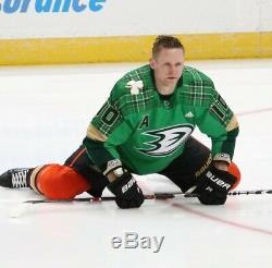 Dédicacée St. Patricks Day Ducks D'anaheim Corey Perry Warm Up Jersey Occasion 58