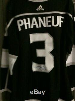 Dion Phaneuf Los Angeles Autographié NHL Hockey Jersey Accueil XL État Neuf