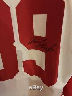 Dominik Hasek Maillot Red Wings Signé Detroit Sabres République Tchèque Authentique