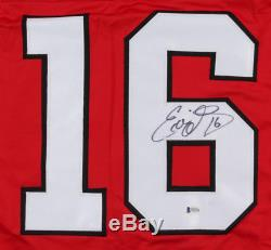 Ed Olczyk A Signé Le Blackhawks Jersey (coa Beckett) 3e Sélection Générale 1984