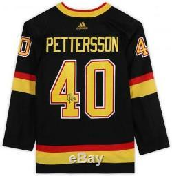 Elias Pettersson Vancouver Canucks Signé Noir Alternate Jersey Authentique