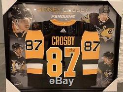 Encadré Sidney Crosby - Maillot Adidas Pro Penguins De Pittsburgh Signé Frameworth