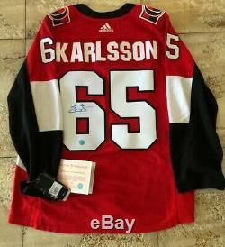 Erik Karlsson A Signé L'authentique Chandail De Hockey Adidas Pro Des Territoires Du Nord-ouest Adidas