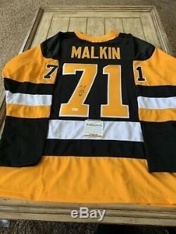 Evgeni Malkin Autographié / Chandail Autographié Tse Coa Penguins De Pittsburgh