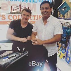 Evgeni Nabokov Autographié Personnalisé San Jose Jersey Jsa Témoin Coa Sharks Noir