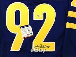 Gabriel Landeskog Team Signed Sweed Jersey Psa / Dna Colorado Avalanche