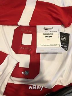 Gordie Howe Chandail Fanatics Signé Detroit Red Wings Steiner M. Hockey LNH Hof