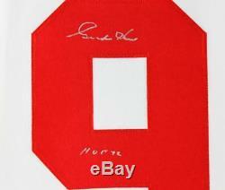 Gordie Howe Hof 72 Des White Wings Authentic White Signed Psa / Dna Autographié