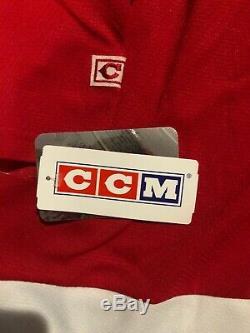 Gordie Howe M. Hockey Inscribed Signé Red Wings De Detroit CCM Jersey Tn-o Jsa