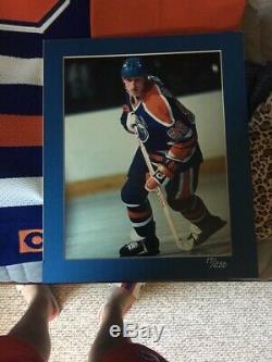 Gretzky Authentique Signé Wayne Edmonton Oilers D'upper Deck Coa / 250