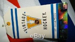 Gretzky Des Oilers D'edmonton Capitaine Signé Rare Blanc CCM Hockey Jersey Vintage
