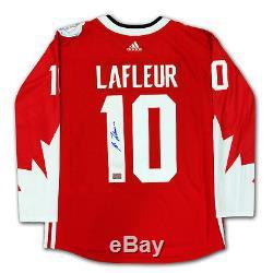Guy Lafleur Chandail Équipe Rouge Canada Autographié