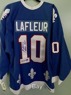 Guy Lafleur Signé Jersey Nordiques (jsa) 560 Objectifs De Carrière / LNH H. O. F. 1988