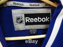 Henrik Sedin Maillot Canucks Signé Taille L Large Vancouver Autographié # 33 Reebok