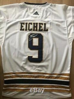 Jack Eichel Signé Autograph Auto Buffalo Sabres 50e Anniversaire Jersey LNH