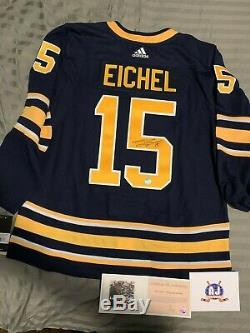 Jack Eichel Signé Autographié Buffalo Sabres Jersey Authentique Adidas