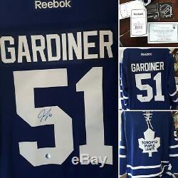 Jake Gardiner Autographié Par Toronto Toronto League Reebok Jersey Coa, Étang Gelé