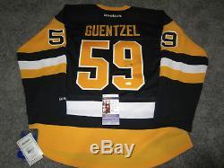 Jake Guentzel Les Penguins De Pittsburgh Ont Signé Le Jersey Autographié Avec Le Jsa
