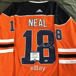 James Neal Chandail Autographié Edmonton Oilers Autographié Accueil Auto + Beckett Coa