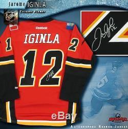 Jarome Iginla Jersey Red Reebok Des Flames De Calgary Signé Avalanche Du Colorado