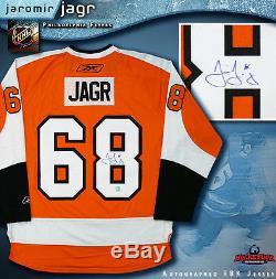 Jaromir Jagr Flyers De Philadelphie Signés Maillot Orange Reebok Panthers De La Floride