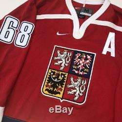 Jaromir Jagr République Tchèque Maillot Nike Signé Beckett Coa Medium Penguins