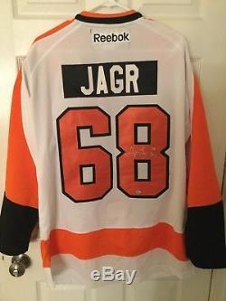 Jaromir Jagr Signé Autographié Flyers Philadelphia Jersey Reebok Avec Bcs Coa
