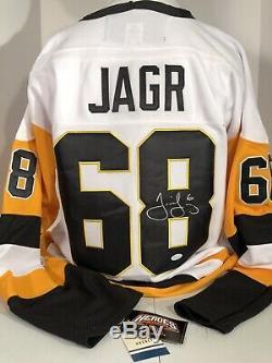 Jaromir Jagr Signé Jersey, Pittsburgh Penguins Autograph. Jsa Coa Nouveau W Tags