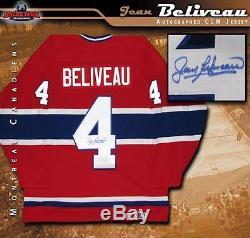 Jean Beliveau A Signé Le Chandail CCM Rouge Des Canadiens De Montréal