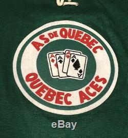 Jean Béliveau Signé Aces Québec Heritage Pull Jersey Beckett Coa Canadiens
