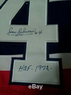 Jean Béliveau Signé Des Canadiens De Montréal Hof 1972 Taille 50