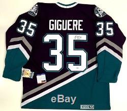 Jean Sébastien Giguère Signé Anaheim Ducks 2003 Coupe CCM Jersey Psa / Dna Coa