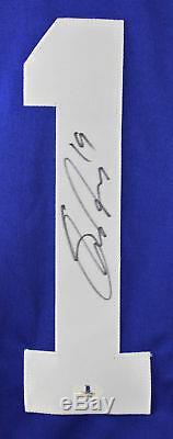 Jets Shane Doan Authentique Bas Signé Jersey Bleu Autographié