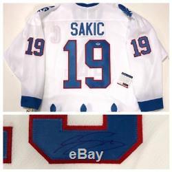 Joe Sakic, Chandail Des Nordiques Du Québec Signé CCM Beckett Coa X86122