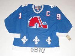 Joe Sakic Signé CCM Vintage Québec Nordiques Jersey Hof Proof Jsa Coa