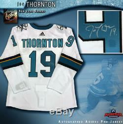 Joe Thornton Maillot Adidas Blanc Signé San Jose Sharks