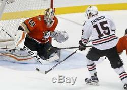 John Gibson - Beckett Coa - Maillots Orange Premier Signés Anaheim Ducks Rbk