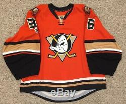 John Gibson Ducks Jeu Émis Signé Auto Jersey NHL Edge 2.0 Taille 58g + Loa