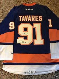 John Tavares A Signé / Autographié Le Premier Ministre Des Islanders Jersey Frameworth Coa