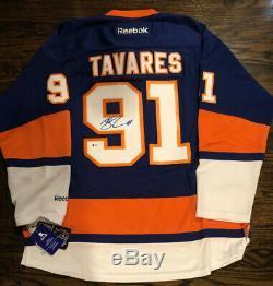 John Tavares Signé New York Islanders Reebok New Jersey Avec Des Étiquettes / Bas Coa