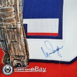 Ken Dryden Signé Jersey Stance Peint À La Main Des Canadiens De Montréal Art Edition