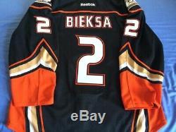 Kevin Bieksa Anaheim (puissant) Canards Worn LNH Jeu De Hockey Sur Glace Jersey