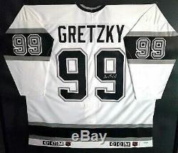 Kings De Los Angeles Wayne Gretzky A Signé Un Maillot De Hockey Avec L'hologramme Coa Upper Deck
