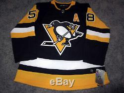 Kris Letang Les Penguins De Pittsburgh Signés Le Maillot Adidas Pro Home Avec Ysms Coa 50