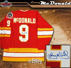 Lanny Mcdonald Maillot De La Coupe Stanley 1989 Des Flames De Calgary Signé Et Inscrit