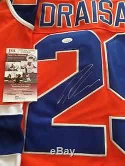 Leon Draisaitl Rare Maillot De Hockey LNH Des Oilers D'edmonton Signé Jsa Coa